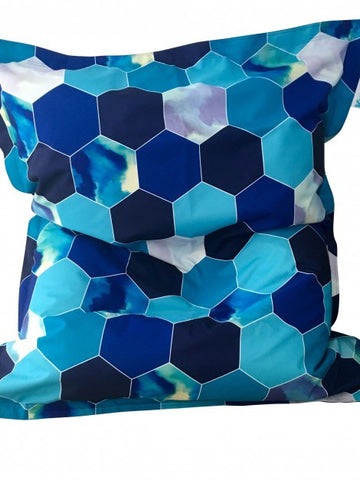 Extra Large Beehive Blue Bean Bag - Body & Soul Beanbags
