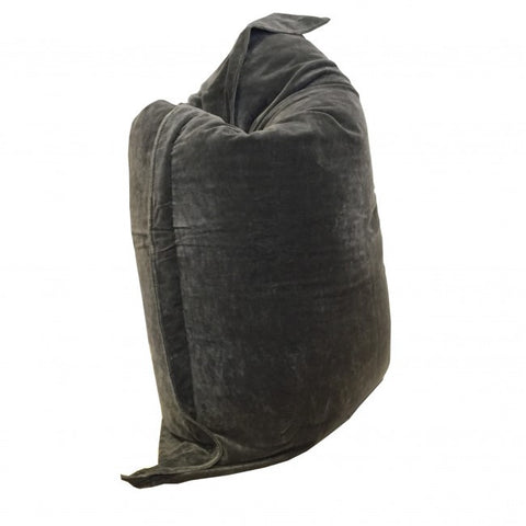 Tigeroy Velvet Charcoal Rectangle Bean Bag - Body & Soul Beanbags