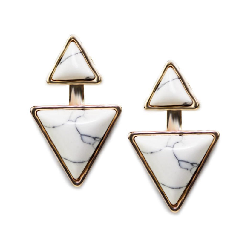 Gypsy Earrings - Sea Salt White