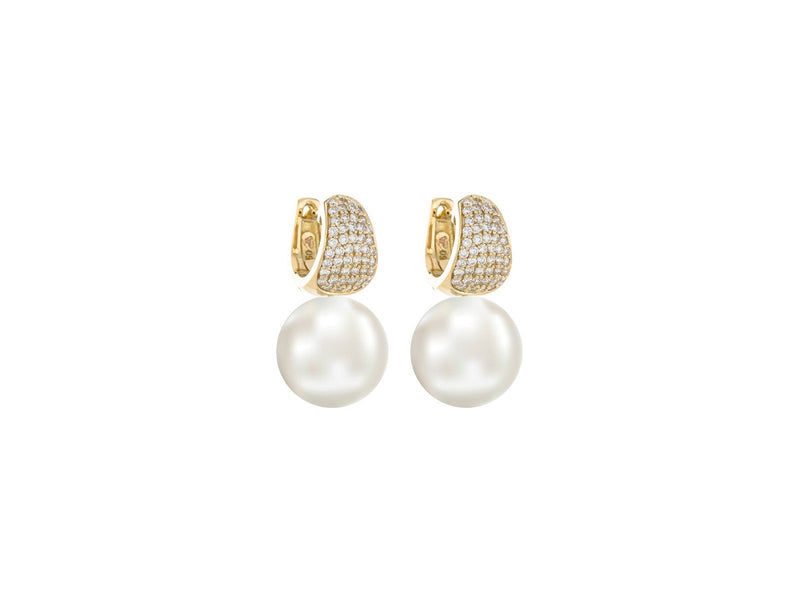 Huggie Freshwater Pearl Earrings