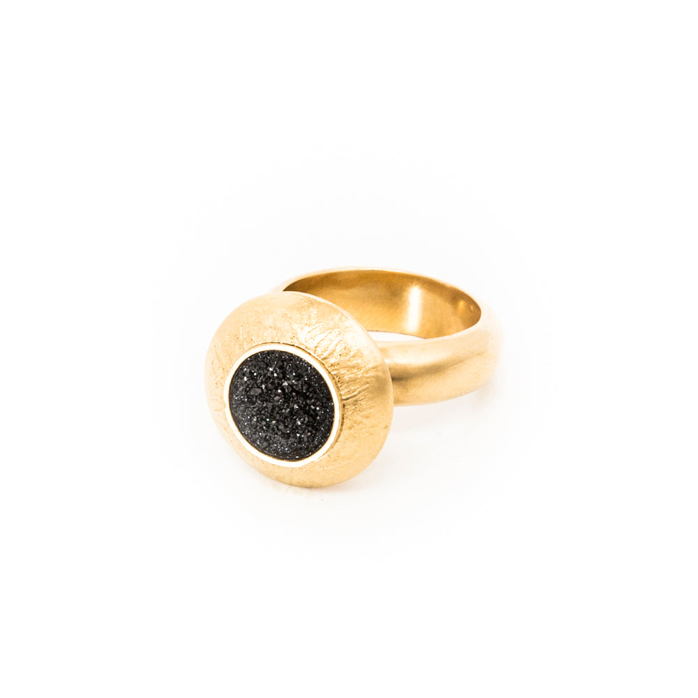 Large Gold Dome Ring