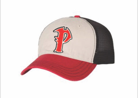 9bcba8597866d Lubbock Pirates Baseball Club Richardson 111 UNSTRUCTURED Garment Washed  Front Mesh Back Caps