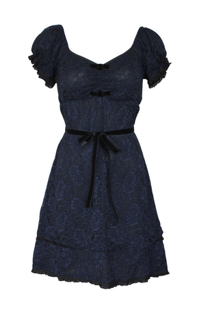 BABY DOLL NAVY LACE DRESS