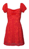 PARIS ROUGE ROSE LACE DRESS