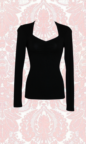 NOIR SWEETHEART TOP