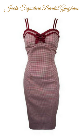 Bardot Rouge Gingham Dress