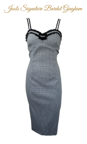 BARDOT NOIR GINGHAM DRESS