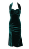 EMERALD SCREEN SIREN VELVET HALTER