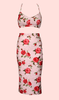 BABY DOLL Rouge Rose Skirt Top Set