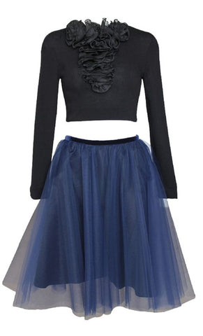 Parisienne Blue Tulle Skirt