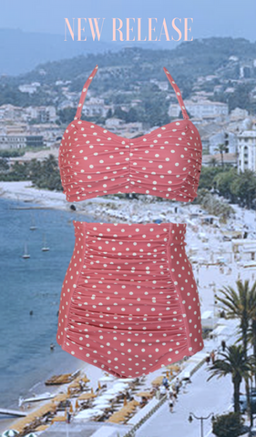 Riviera Blush Dot Swim Set