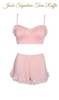 Powder Puff Sleep Bra Set
