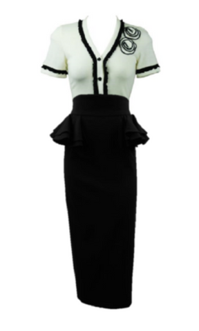 MANHATTAN PEPLUM SKIRT