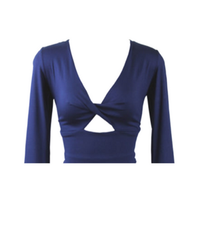 NAVY TWIST TOP