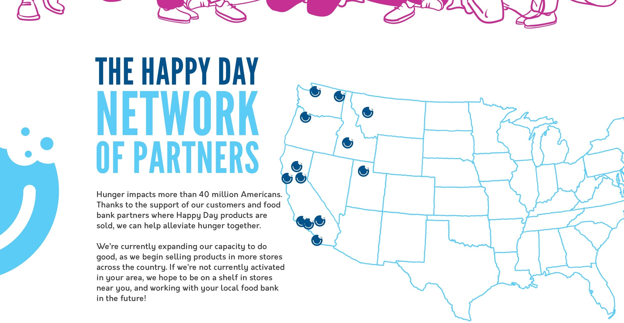 HAPPY DAY BRANDS NETWORK OF FOOD BANK PARTNERS