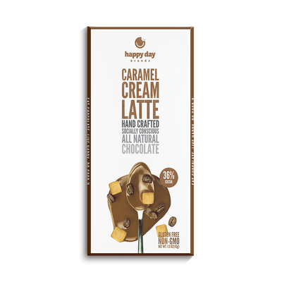 6 PACK MILK CHOCOLATE CARAMEL CREAME LATTE 36% COCOA - ALL NATURAL