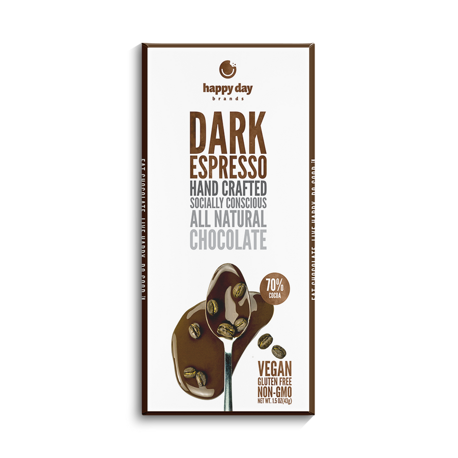 6 PACK DARK CHOCOLATE ESPRESSO 70% COCOA - ALL NATURAL