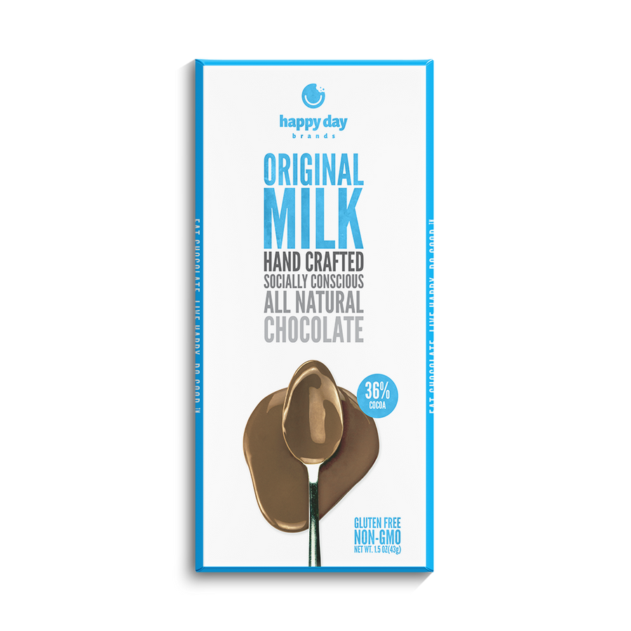 6 PACK MILK CHOCOLATE 34% COCOA - ALL NATURAL