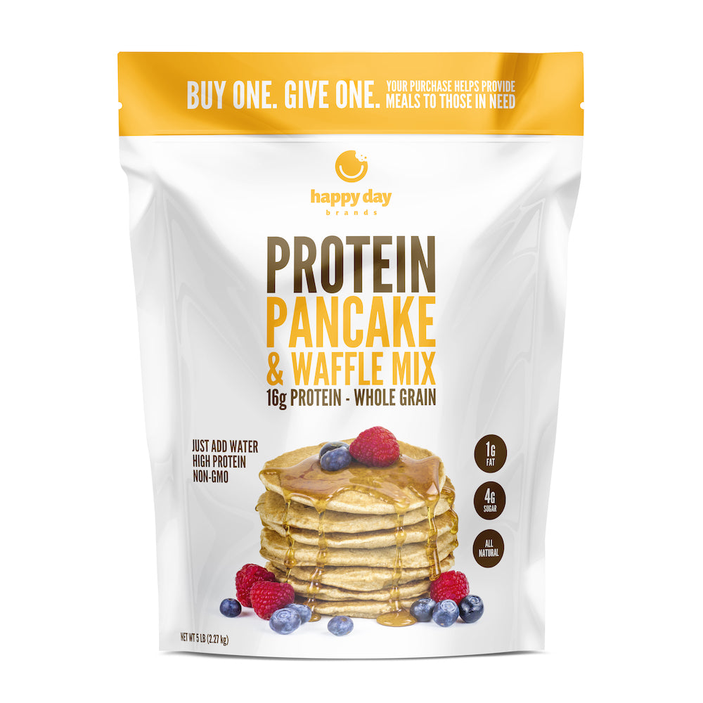 Protein Pancake And Waffle Mix Happy Day Brands