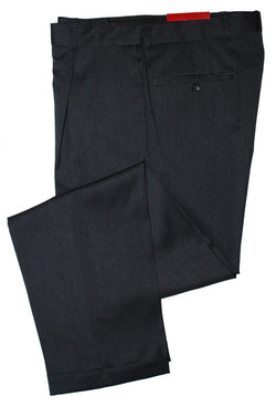 Alfani Men's Sharkskin Single Pleat Wool Dress Pants, Charcoal 33x32