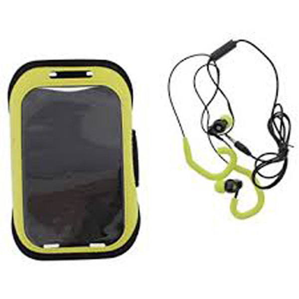 Polaroid Armband And Earbuds Set Black/Yellow