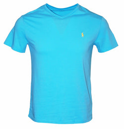 Polo Ralph Lauren Men's Jersey V-Neck T-Shirt (French Turquoise, S)