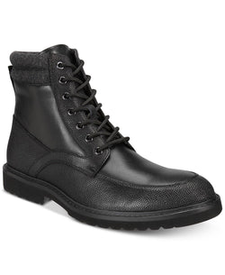 Alfani Men's Patrick Moc-Toe Utility Zip-Up Boots, Black 8