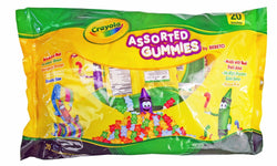 Crayola Assorted Peanut Free Gummies Candy Pouches 20ct (0.6x20)