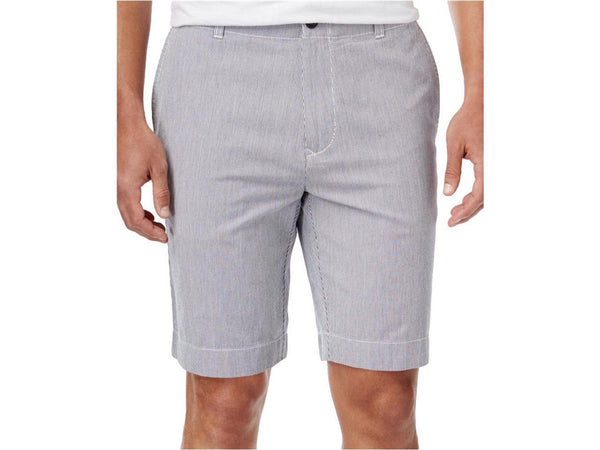 Tommy Hilfiger Men's Cotton Flat Front Paul Pincord Stripe Classic Fit Shorts