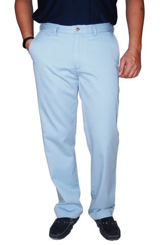 Polo Ralph Lauren Men's Classic Fit Flat Front Chino Pants , Soft Sky Blue 30x30