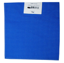 Tommy Hilfiger Men's 4 Way Pin Dot Pocket Square , Blue