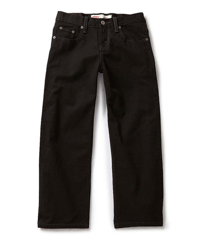 Levi's Big Boys' Husky 550 Relaxed Fit Jeans Black 18H 36W x 29L
