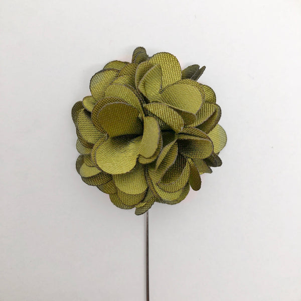 Hunter Flower Lapel Pin