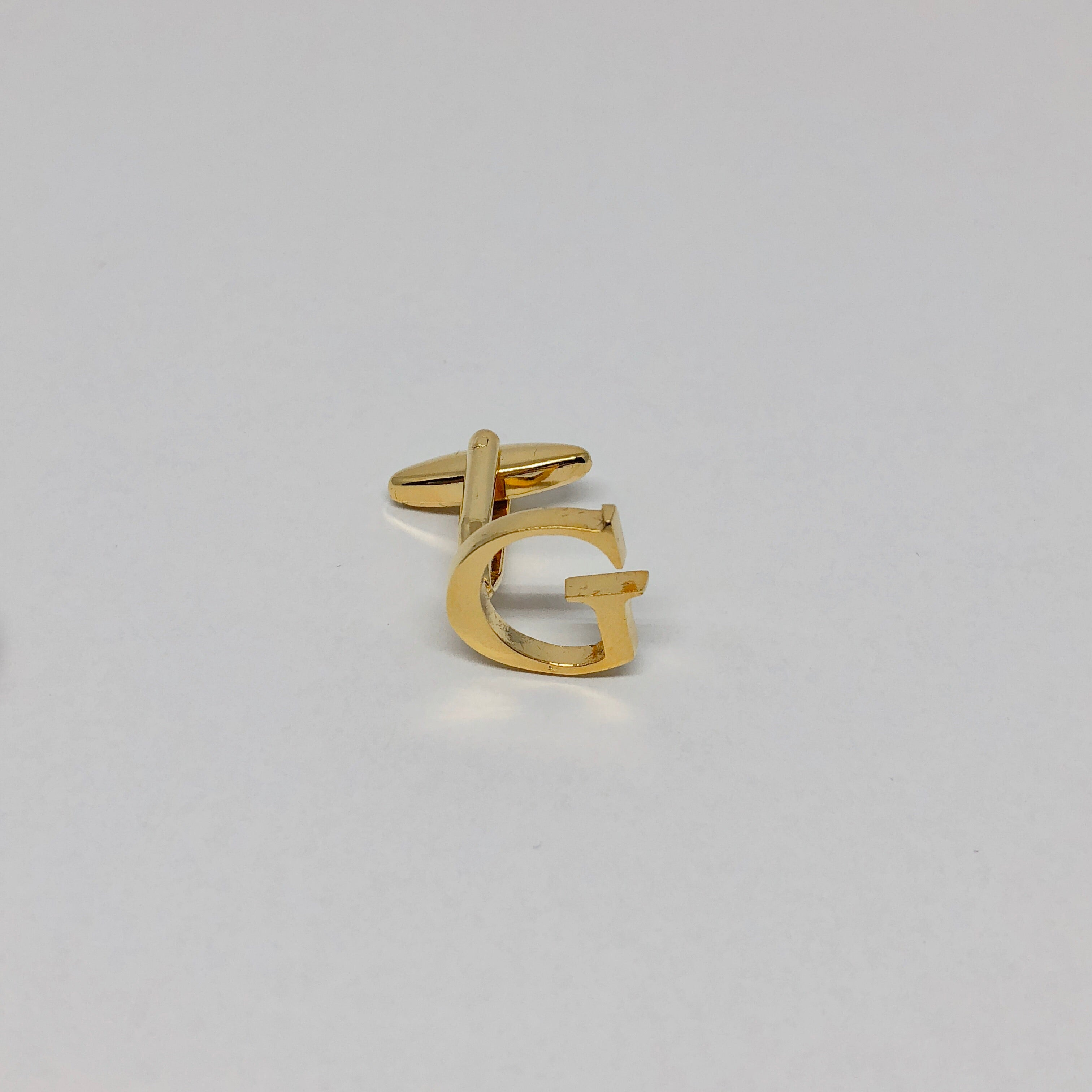 Individual Letter Cufflinks (Gold)