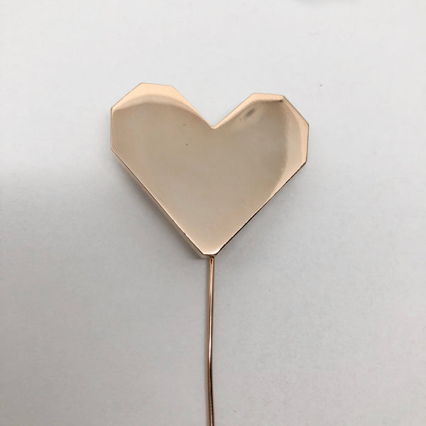 Rose Gold Heart Lapel Pin