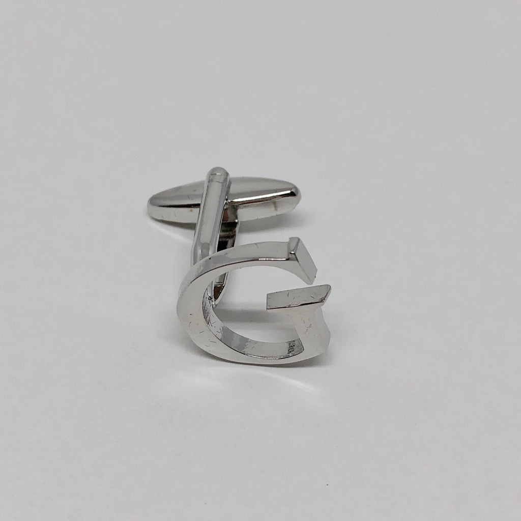Individual Letter Cufflinks (Silver)