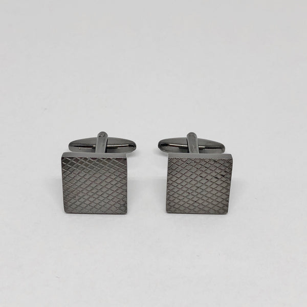 Textured Black Cufflinks