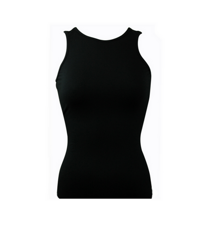 Black Racer Back Top