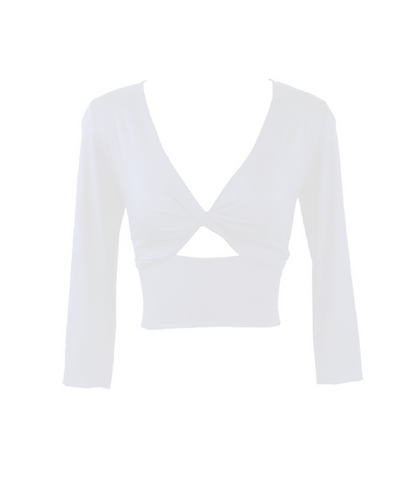 Iceberg White Twist Bodice Top