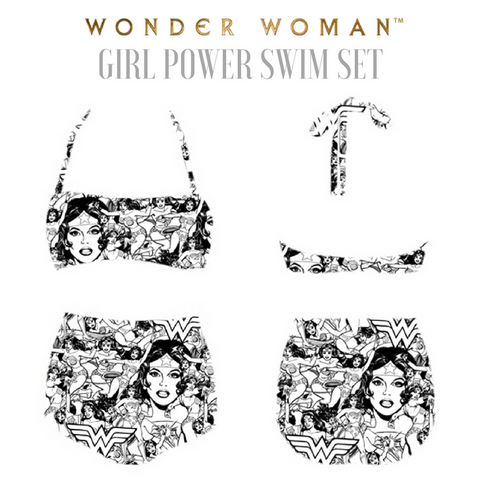 WONDER WOMAN Girl Power Swim Set