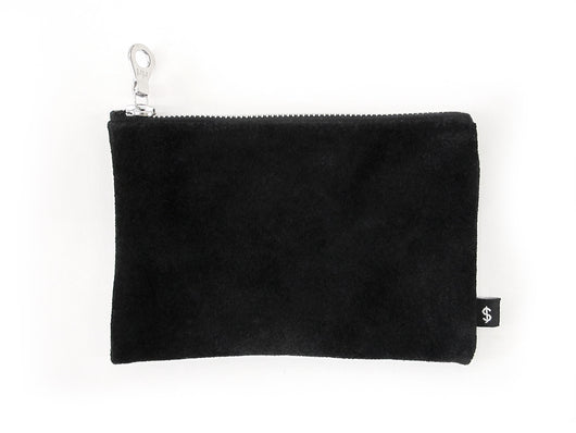 J. MONEY - ZIP WALLET - BLACK SUEDE
