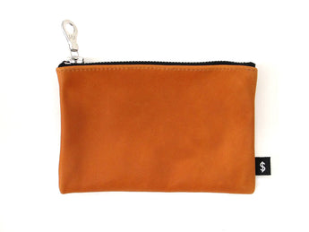 J. MONEY - ZIP WALLET - CARAMEL LEATHER
