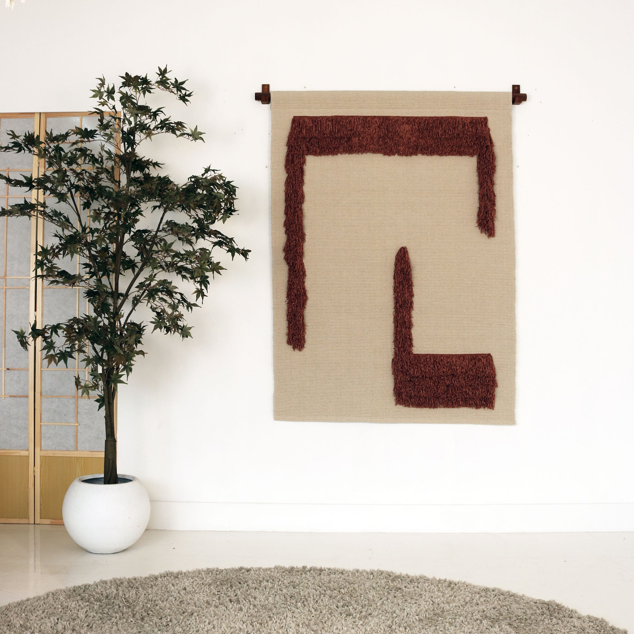 SHADE WALL HANGING  natural/rose