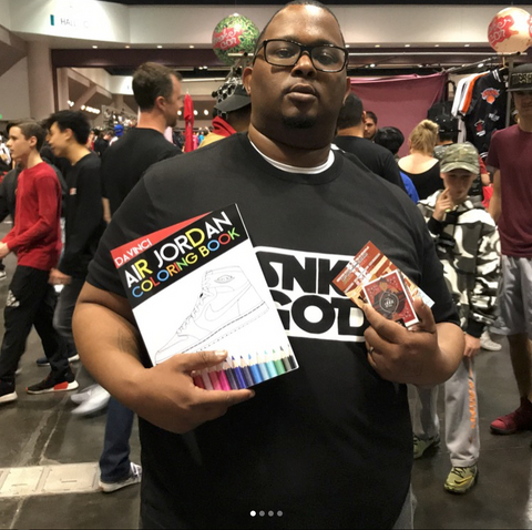 Air jordan coloring book sneakercon