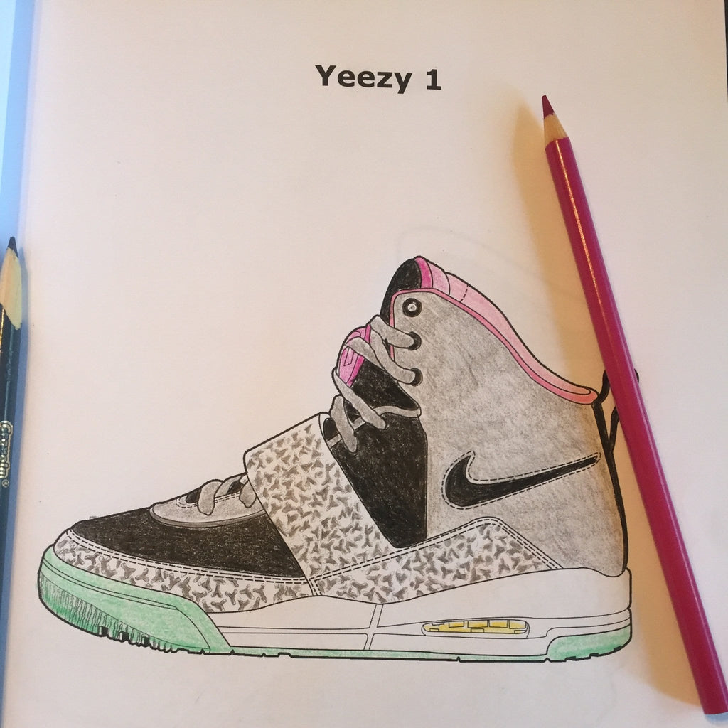 Air Yeezy coloring - ColoringBookLife