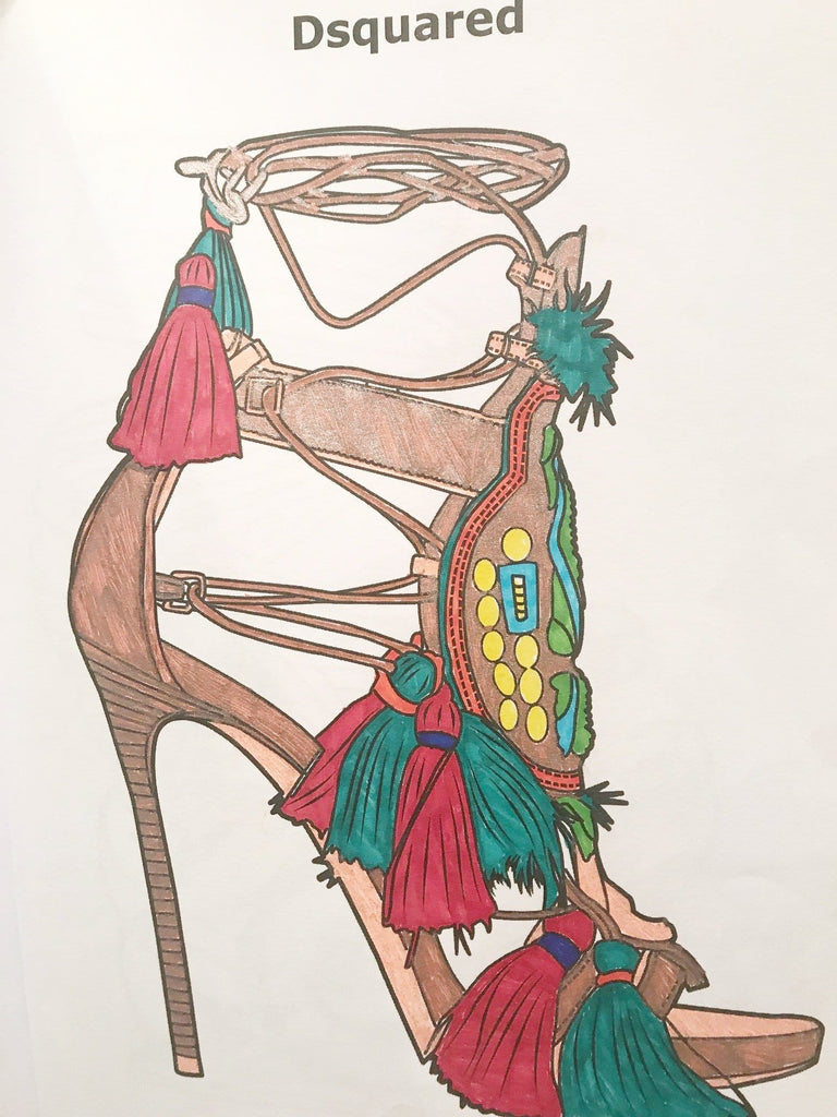 High On Heels Coloring Book