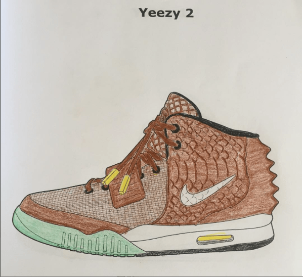 Air Yeezy coloring book