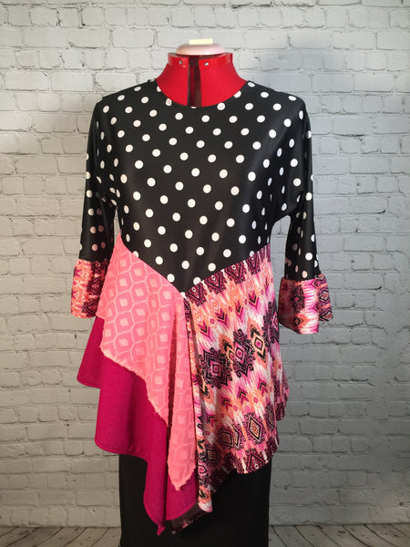 Aurora Polka Dot Tunic Top