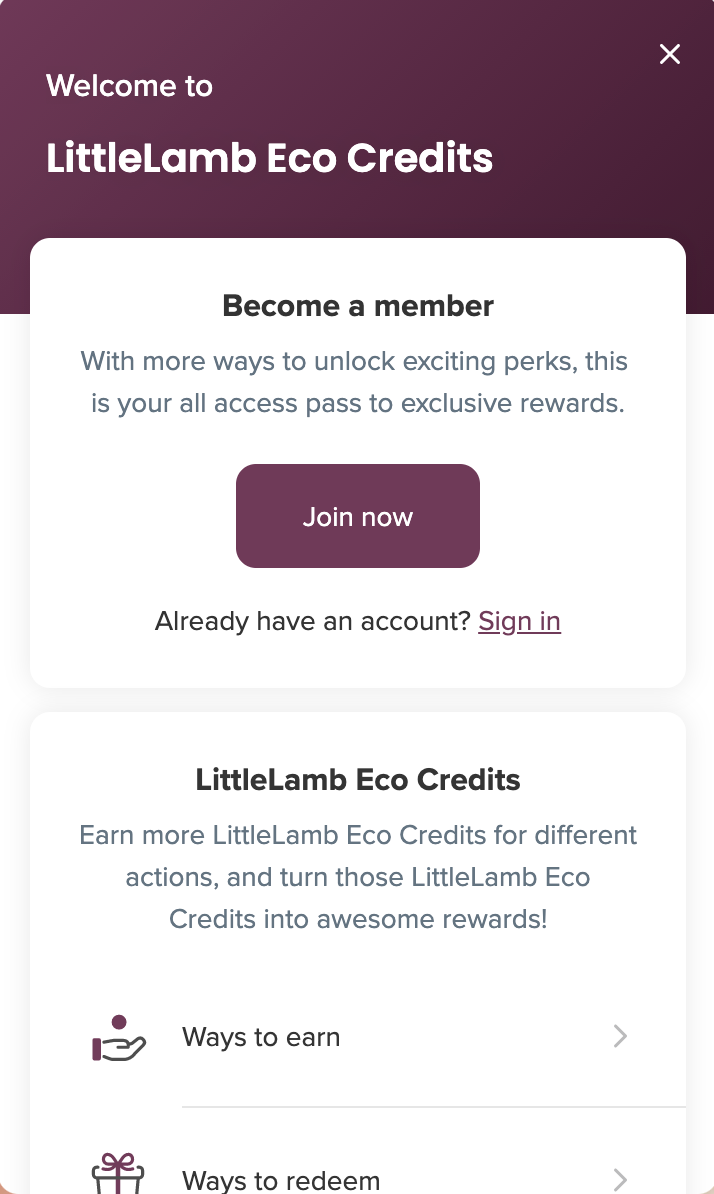 littlelamb loyalty system