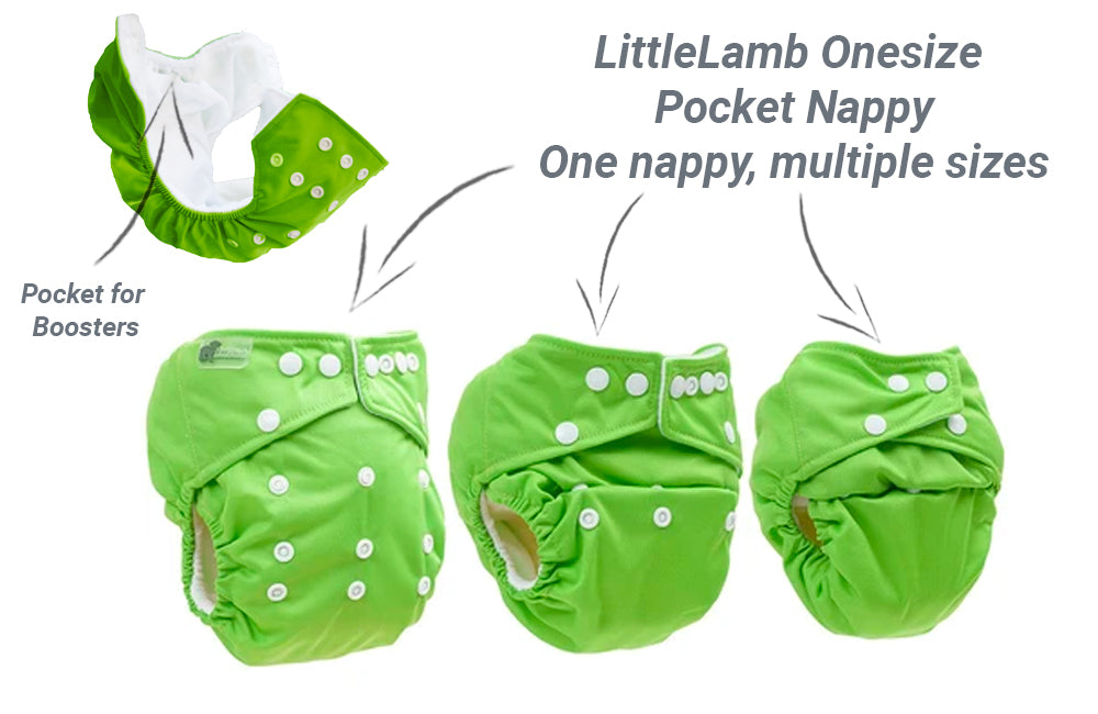 little lamb one size pocket nappy guide
